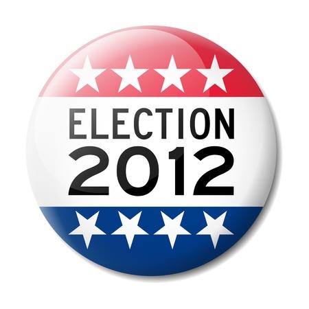 Abzeichen für die amerikanischen Wahlen 2012