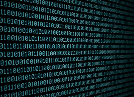 Blues binary data on black background Stock Photo - 15914776