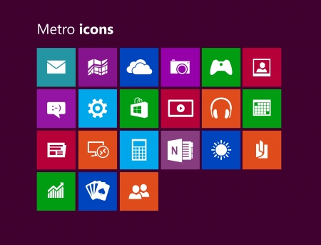 Metro icons Illustration