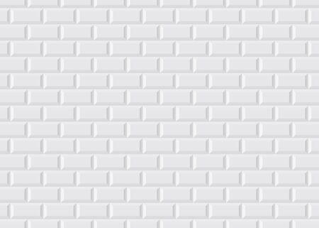 Weiß gefliestes Pariser Metro