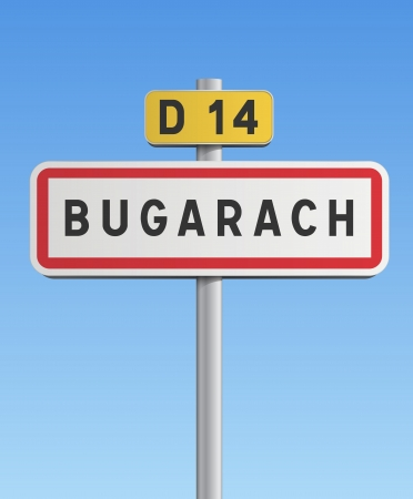 Bugarach road sign Vector