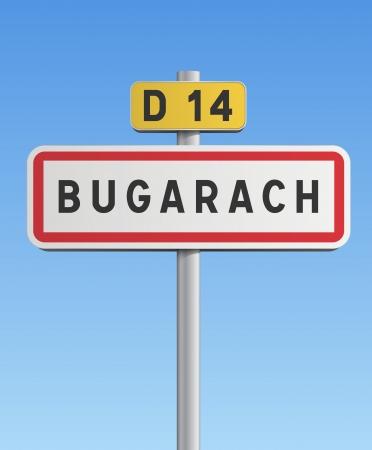 Bugarach road sign Stock Vector - 16758457