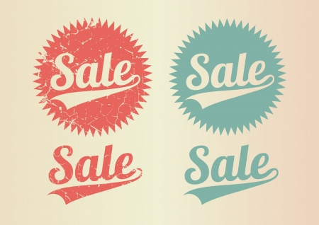 Sale vintage Stock Vector - 16999957