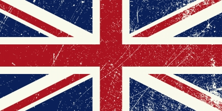 UK flag vintage Vector