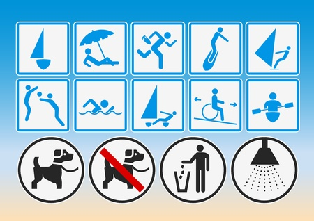 signaling: Beach pictograms
