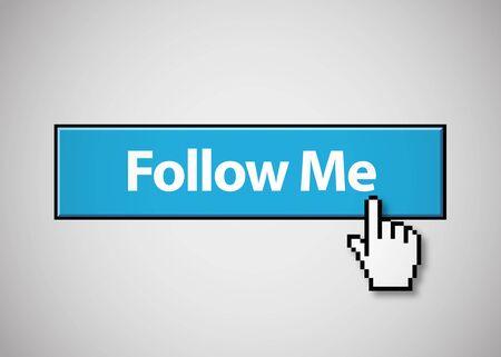 Follow Me button Stock Vector - 17910460