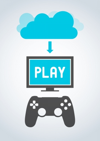 Cloud Gaming Vector