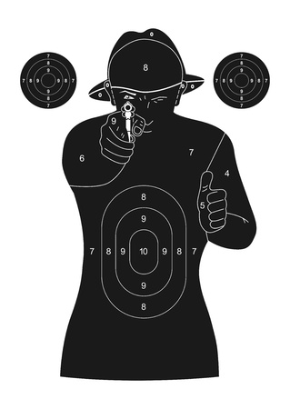 gun license: Human silhouette target Illustration