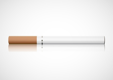 the electronic: Electronic cigarette Illustration