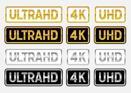 UltraHD logos  イラスト・ベクター素材