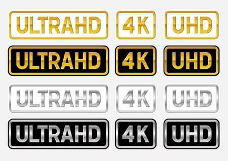 UltraHD logos Illustration