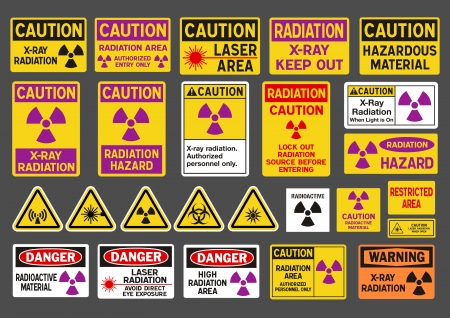 hazardous: Radiation signs