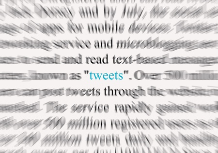 tweets: Tweets 1 Stock Photo