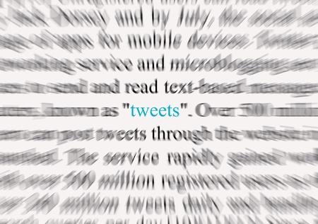 tweets: Tweets 1 Stock Photo