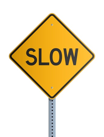 Slow roadsign Stock Vector - 19316902