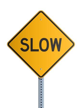 Slow roadsign Stock Vector - 19316902