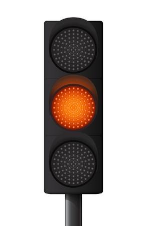 Orange Yellow traffic light
