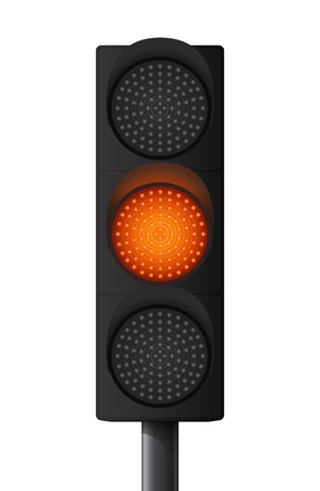 traffic signal: Feu jaune-orange Illustration