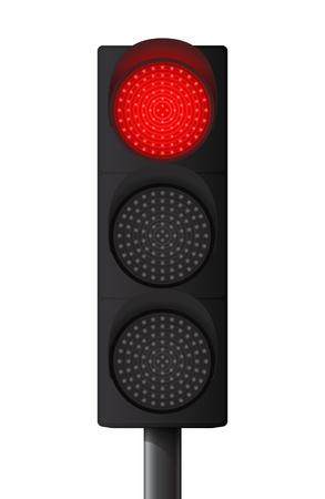 señal transito: Sem?ro rojo