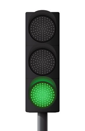 authorization: Green traffic light Illustration