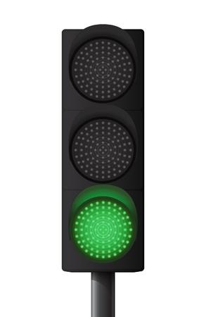 señal transito: Sem?foro verde