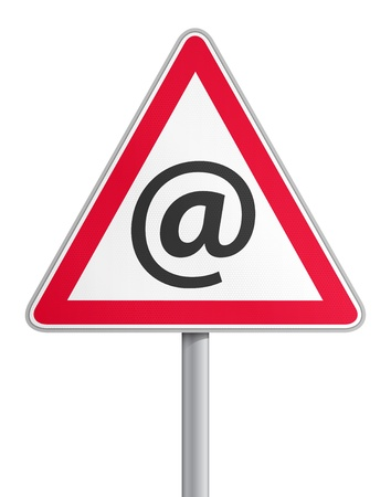 web scam: Road sign mail fraud