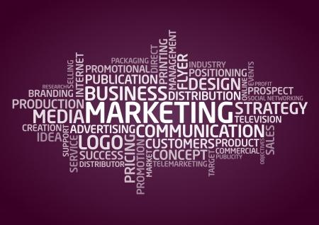 Marketing - Words Stock Vector - 19759595