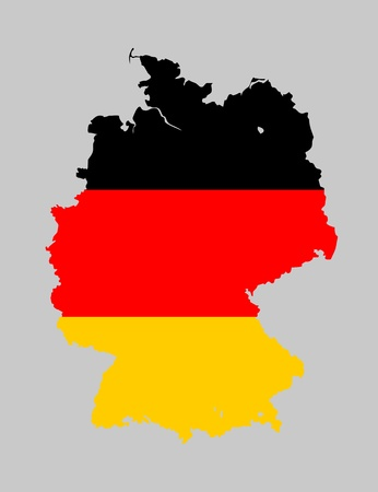 Germany flag map Vector
