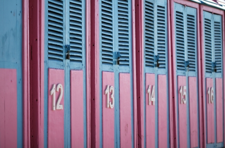 vendee: Beach huts - Les Sables d Olonne  France  Editorial