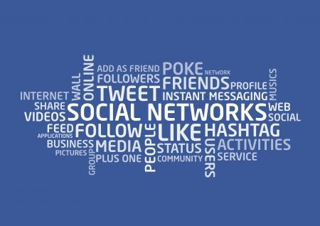 add as friend: Social Networks words