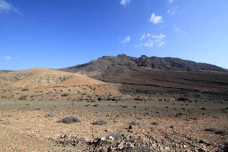 Desert landscape  Fuerteventura - Spain   photo