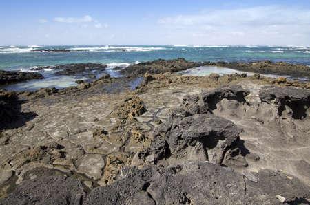 Rock formations  El cotillo - Fuerteventura - Spain  Stock Photo - 24160919