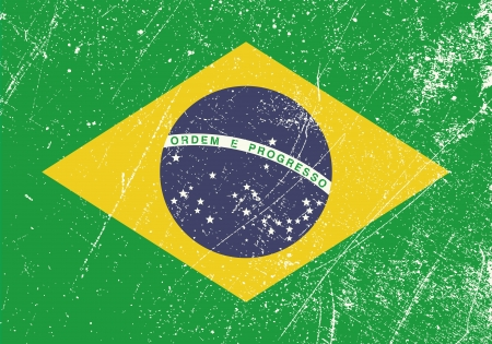 brazil flag: Brazil Flag vintage Illustration