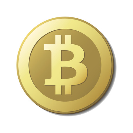 gold money: Vector Bitcoin