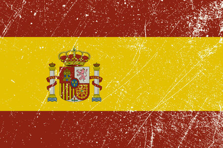 Spanish flag vintage Vector
