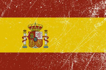 iberian: Spanish flag vintage Illustration