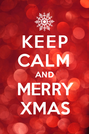 Keep Calm and Merry Xmas photo