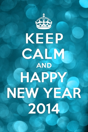 Keep Calm and Happy New Year 2014 photo