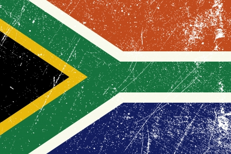 south african flag: Vintage South African flag