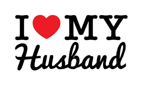 echtgenoot: Ik houd van Mijn Echtgenoot Stock Illustratie