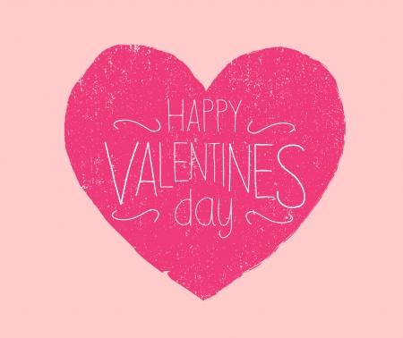 Happy Valentines Day used Vector