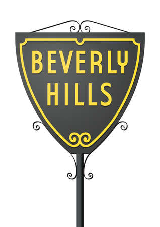 california: Beverly Hills sign
