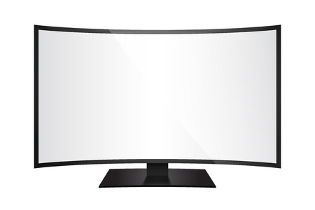 in curved: Curved screen 2 Illustration