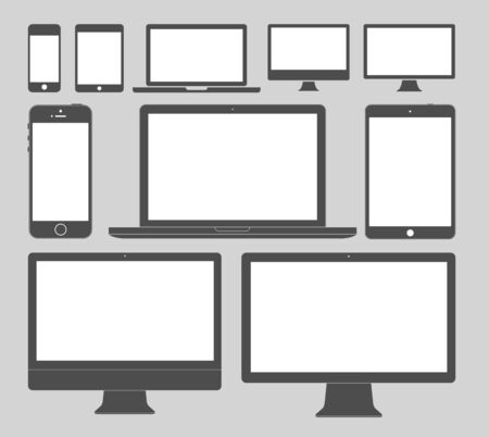 Display Devices Icons Stock Illustratie