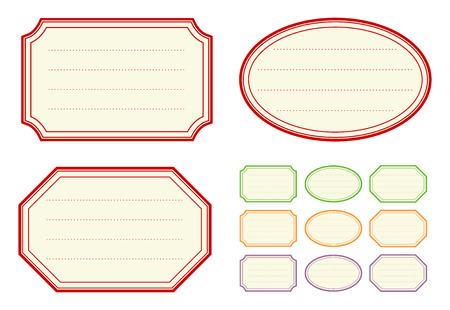 Old fashioned jam label templates Vector