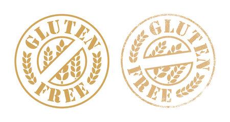 gluten free: Gluten free rubber stamp ink Illustration