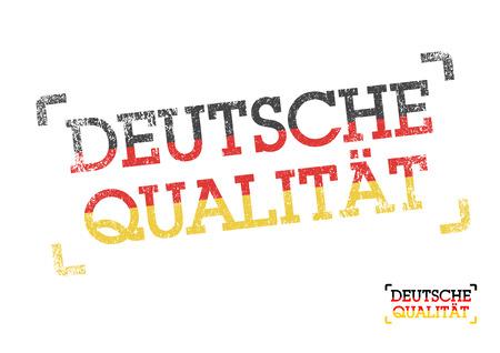 German quality in German Vector