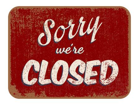 désolé: Désolé, nous sommes fermés Illustration