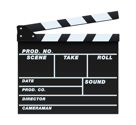 Black Clapperboard Vector