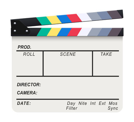 White Clapperboard Vector